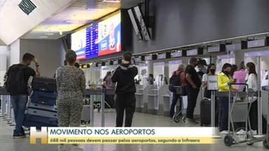 Infraero espera aerportos movimentados no fim do dia - Cerca de 688 mil pessoas devem passar pelos aeroportos de todo país.