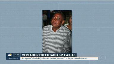 Corpo do vereador Quinzé, assassinado em Caxias, vai ser sepultado na tarde desta segunda - Imagens mostram pessoas tentando socorrer o político logo após o crime