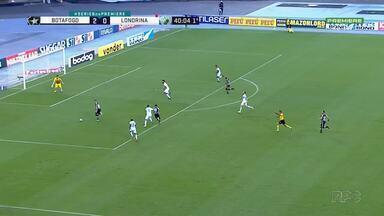 Operário empata e Londrina é goleado - Na Série B, o Operário até comemorou o empate sem gols com o Sampaio Corrêa, mas o Londrina sofreu com o 4x0 aplicado pelo Botafogo