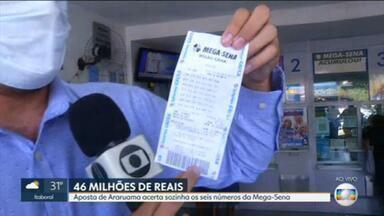 Aposta de Araruama acerta sozinha os seis números da Mega-Sena - Moradores de Araruama querem saber quem é o novo milionário da cidade, aposta levou sozinha prêmio de R$ 46,3 milhões.