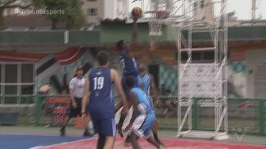 Santos volta a sediar etapa da liga nacional de Basquete 3X3 - Jogadores do esporte comentam realidade da variante do basquete tradicional, que é mais dinâmico.