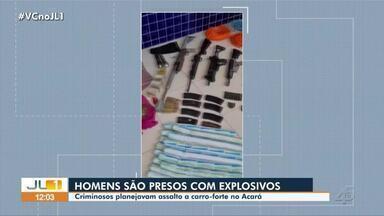 No Pará, homens são presos com explosivos - Criminosos planejavam assalto a carro-forte no Acará.