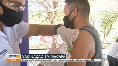 Suspensa pelo feriado, vacinação em Macapá e Santana será retomada amanhã (14) - Suspensa pelo feriado, vacinação em Macapá e Santana será retomada amanhã (14)