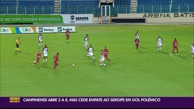 Campinense cede empate ao Sergipe fora de casa no primeiro jogo - Confronto decisivo aconteceu na Arena Batistão