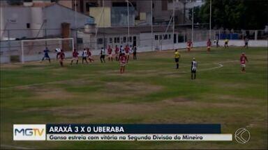 Araxá vence Uberaba na estreia da Segunda Divisão do Mineiro - Jajá marca na vitória por 3 a 0 sobre o Colorado, no Fausto Alvim.