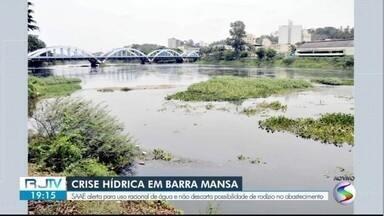 Saae alerta para uso racional de água em Barra Mansa - Não é descartada possibilidade de rodízio no abastecimento.