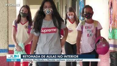 Escolas retornam aulas presenciais no interior do Pará - Dia foi de volta às salas de aula no estado.