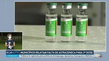 Paraná recebe mais 303 mil doses de vacina contra o coronavírus - Todas devem ser usadas para a primeira dose.
