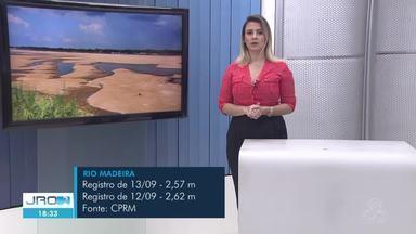 Previsão do tempo para Rondônia com Larissa Vieira - Alerta de chuvas intensas em grande parte do estado nesta terça-feira, o tempo varia de claro a parcialmente nublado.