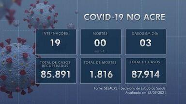 Acre confirma três novos casos de Covid-19 e nenhuma morte pela doença nesta segunda (13) - Acre confirma três novos casos de Covid-19 e nenhuma morte pela doença nesta segunda (13)