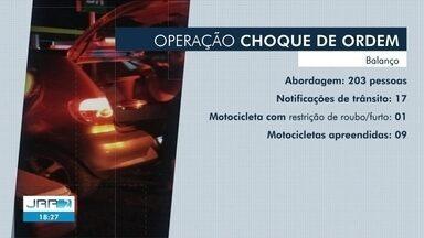 Operação da PM aborda mais de 200 pessoas em Boa Vista - Também foram feitas apreensões de veículos e notificações de trânsito.