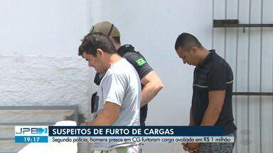 Três homens são presos suspeitos de furtar cargas de caminhões - Segundo polícia, homens presos em CG furtaram carga avaliada em R$ 1 milhão.