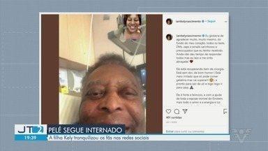 Filha de Pelé tranquiliza fãs com postagem de foto do pai no hospital - Ele segue internado, mas apresenta melhoras.