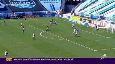 Gabriel Santos é nova esperança de gols no Vozão - Saiba mais em ge.globo/ce
