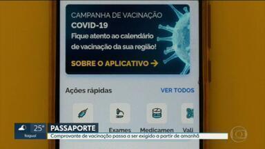 Vacina contra a Covid será passaporte para a entrada em vários lugares da cidade do Rio - É preciso ter o comprovante da vacina de dose única ou estar em dia com a primeira dose. Há também um cronograma para exigir a conclusão da imunização.