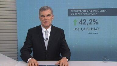 Cresce o número de exportações no RS - Total chega a 42,2% se comparado ao mesmo período do ano passado.