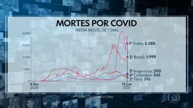Com avanço da vacinação, mortes por Covid no Brasil caem 77% desde junho - No dia 13 de junho, o Brasil registrou 1.999 mortes na média móvel de sete dias. Nesta segunda-feira (13), a média móvel fiou em 465 óbitos.