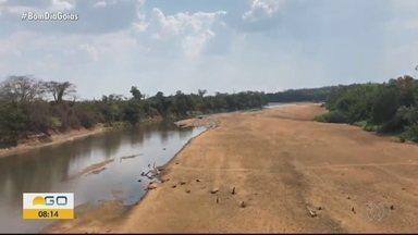 Confira imagens de rio em época de seca, em Goiás - Previsão continua de umidade muito baixa em todo o estado.