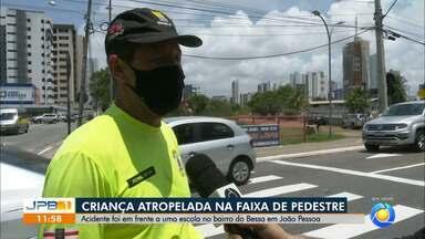 Criança é atropelada em faixa de pedestre no bairro do Bessa, em João Pessoa - Atropelamento foi em frente a escola de bairro