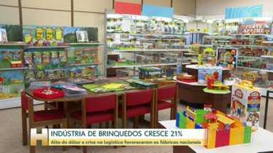 Indústria nacional do brinquedo cresce 21% em 2021 - Alta do dólar e crise no setor de logística internacional favoreceram produção nacional.