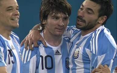 O gol de Brasil 0 x 1 Argentina em amistoso internacional