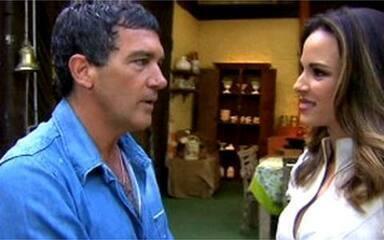 Ana Furtado registra a visita do ator Antonio Banderas ao Mais Você