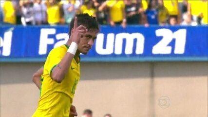 Neymar brilha na goleada do Brasil contra o Panamá