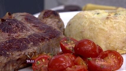 Ana Maria Braga prepara batata recheada no Mais Você