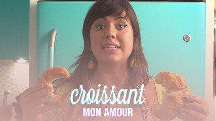 Croissant é um pão de massa folhada que leva fermento biológico