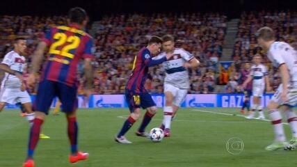 Messi e Neymar brilham na vitória do Barça contra o Bayern de Munique