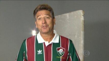 Renato Gaúcho comemora os 20 anos do inesquecível gol de barriga