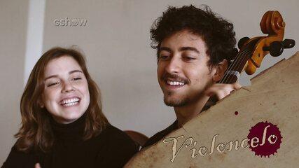 Alice Wegmann e Jesuíta Barbosa têm aulas de violoncelo para viverem novos personagens