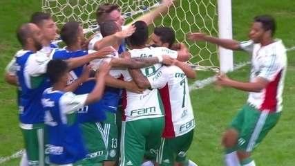 Os gols de Flamengo 1 x 2 Palmeiras pela 5ª rodada do Brasileirão de 2016