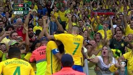 Brazil 4 x 0 Denmark goals for Group A soccer at the 2016 Olympics