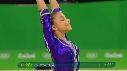Flavia Saraiva se apresenta na final feminina da trave na Rio 2016