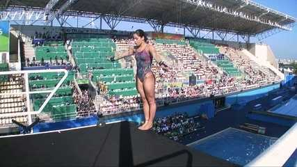 Confira o primeiro salto de Ingrid de Oliveira na disputa dos Saltos Ornamentais