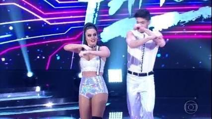 Letícia Lima dá um show em sua primeira apresentação no 'Dança dos Famosos'