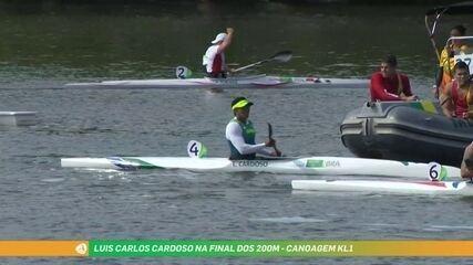 Luis Carlos Cardoso fica em quarto na final da canoagem velocidade KL1 200m