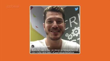Caio Paduan comanda as redes sociais do Gshow e interage com os fãs