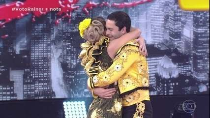 Rainer Cadete dança o paso doble