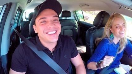 No Estrelas, a loira entrevistou Wesley Safadão