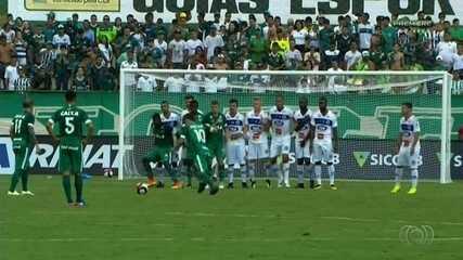 Com Juan inspirado, Goiás decide na bola parada e vence o Goianésia na Serrinha