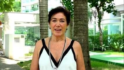 Lilia Cabral também deixou seu depoimento no telão do Domingão