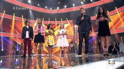 Brunno Pastori e Isadora Ferreira continuam no 'The Voice Kids'