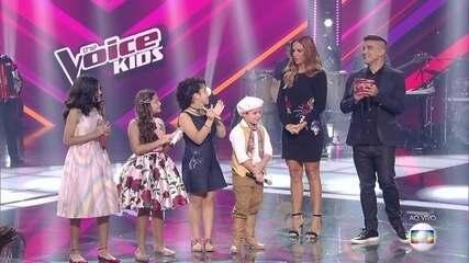 Thomas Machado e Tetê Prezoto continuam no 'The Voice Kids'