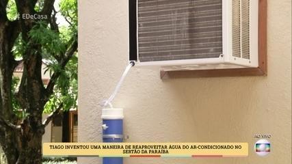 Tiago Oliveira ensina a reaproveitar a água do ar-condicionado