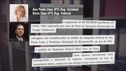 Décio Lima é suspeito de pedir doação a caixa 2 de campanha da esposa