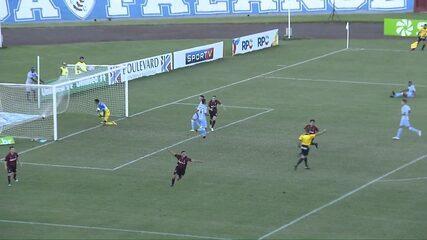 Gol do Atlético-PR! Renan Paulino diminui em contra-ataque no Estádio do Café, aos 35 minutos do 2º tempo