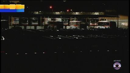 Manifestantes bloqueiam garagens de ônibus em Santa Maria