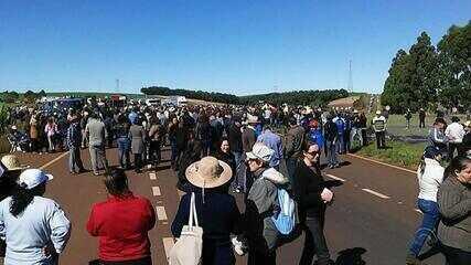 Protestos no interior tiveram dois atropelamentos e quatro ônibus queimados
